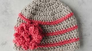 Quick Crochet Flower Hat Tutorial
