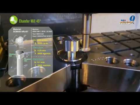 Nine9 Chamfer Mill 耐久捨棄式倒角刀加工實例