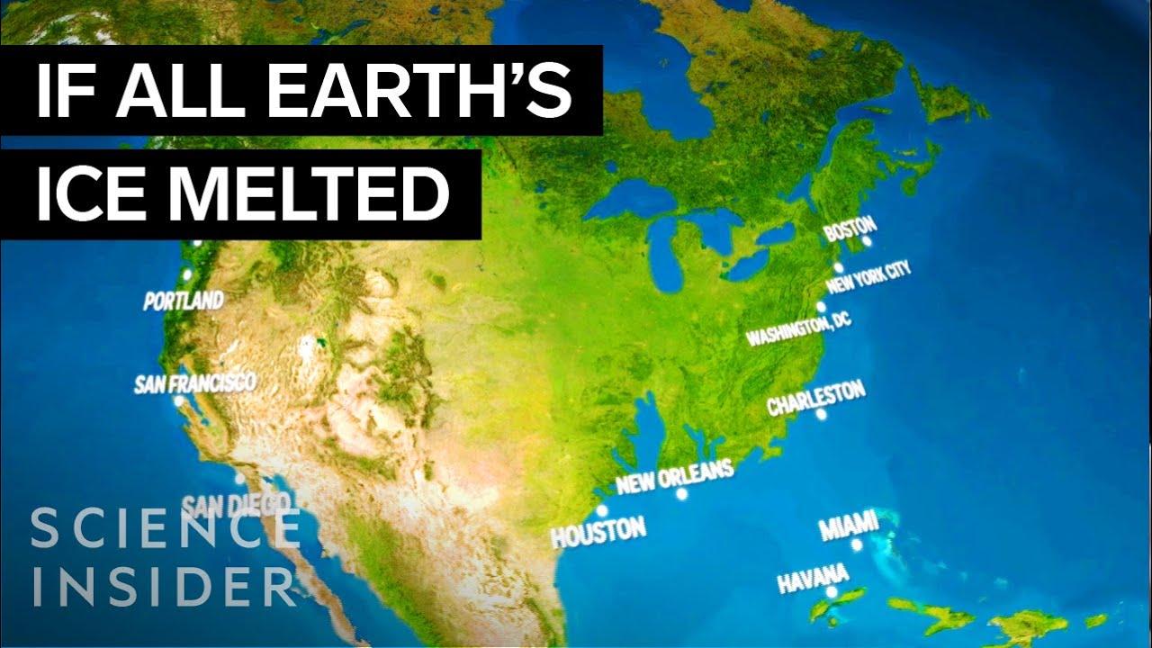 #видео   Как будет выглядеть Земля, когда весь лед растает?