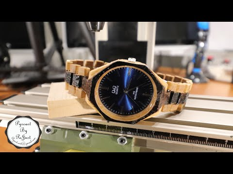 Making wooden watch with pyrography design