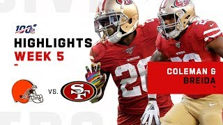 Breida & Coleman Combine for 211 Rushing Yards! | NFL 2019 Highlights
