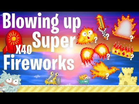 Growtopia | Blowing Up 40 Super FireWorks!