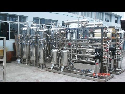 Water purification system two stages stainless steel RO water treatment machinery Medical equipment