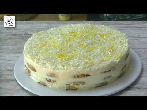 Tarta fría de limón y galletas | Tarta fácil sin horno