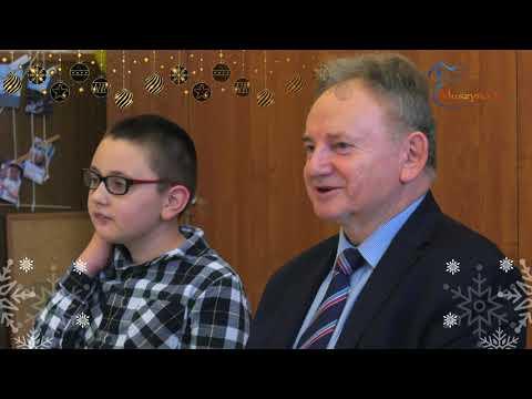 Życzenia dla mieszkańców od dr Jana Golby, burmistrza MiGU Muszyna oraz dzieci