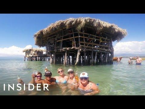 Getting Drunk at a Jamaican Ocean Bar
