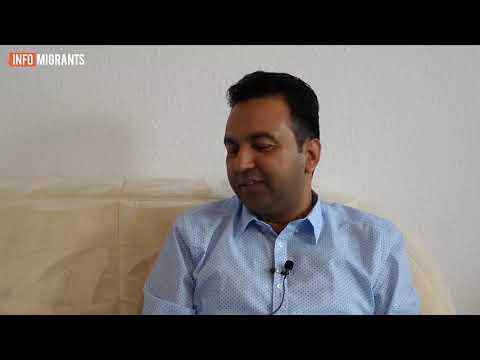 مسعود احمد صدیق یکی از مهاجران افغان در آلمان