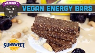 3 Ingredient Vegan Energy Bars! Mind Over Munch Kickstart 2016