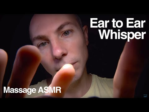 ASMR Whispering Ear to Ear Hand Movements & Touching