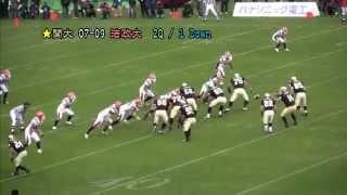 アメフト2009年第64回甲子園Bowl関西大vs法政大