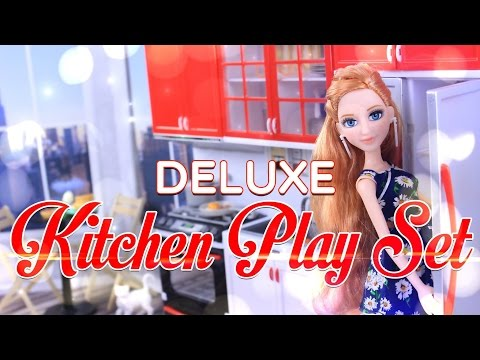 Unbox Daily:  Deluxe Kitchen Play Set | Sweet Home & Living | Modern Kitchen | Doll Review - 4K