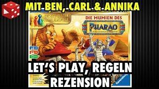 Die Mumien des Pharao (Ravensburger 2017) - Let's Play, Regelerklärung & Rezension