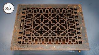 Реставрация вентиляционных отверстий отопления 100-летней давности