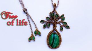 Macrame Tree Of Life Necklace Tutorial - Hướng Dẫn Thắt Mẫu Dây Chuyền Cây Sinh Tồn