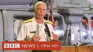 chuẩn đô đốc mỹ trả lời philippines về đường chữ u trên tàu sân bay uss ronald reagan
