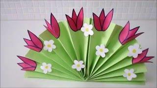Букет цветов из цветной бумаги.