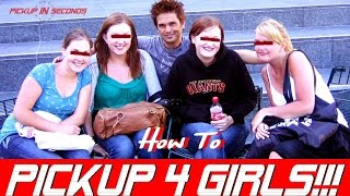 HOW TO APPROACH 4 GIRLS WITHOUT A WINGMAN!   HOW TO APPROACH WOMEN ( DAYGAME PICKUP / PUA TRAINING )