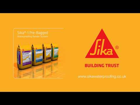 Sika®-1 Pre-Bagged Structural Waterproofing Render System