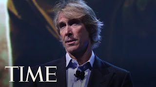 Michael Bay Walks Off Stage After 'Embarrassing' Teleprompter Fail   TIME
