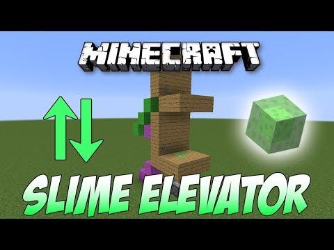 Minecraft Tutorial Simple 2 Floor Slime Block Elevator K1 Inc