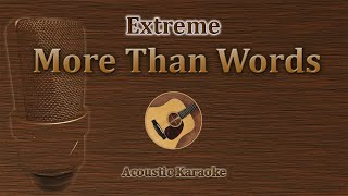 Gambar cover More Than Words - Extreme (Acoustic Karaoke)