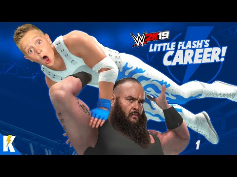 The Rise of Little Flash! WWE 2k19 Career Mode (SKIT) Part 1 | KIDCITY GAMING