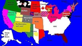 Мнение Американцев о разных штатах (Опрос)