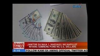 UB: Janitor sa NAIA 1, nagsauli ng napulot niyang sobreng puno ng U.S. dollars