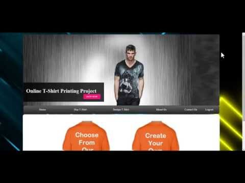 Online Tshirt Designer Project