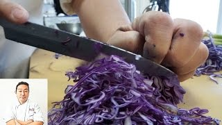 ASMR: Fast Precise Cutting Skills and Extremely Sharp Knife