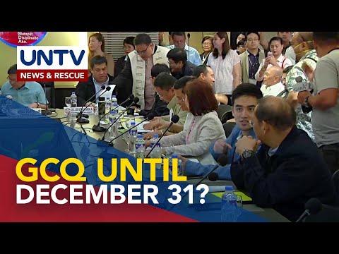 [UNTV]  NCR mayors, naniniwalang dapat manatili ang GCQ sa rehiyon hanggang Dec. 31