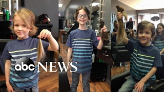 Family donates hair in loving memory of a friend