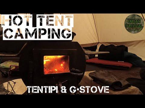 ⚠️[ХроникиУрбана] Кемпинг в Лесу с Ночевкой🔥 | Палатка и Печь🏕️ • Hottenting | Tentipi & GStove