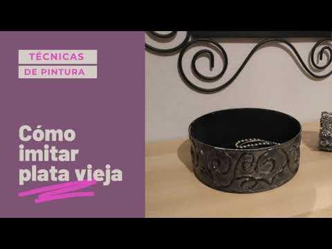 Cómo Imitar La Plata Vieja Con Pinturas Acrílicas no Tires Las Latas Esto Es Reciclaje Creativo!!