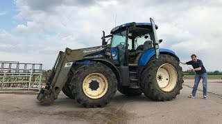 Test Driving the New Holland TS135A - On A Tractor Run 2018