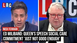 Ed Miliband: Queen's Speech social care commitment 'just not good enough' | LBC
