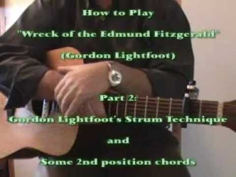 Guitar Cover Learn How To Play The Wreck Of The Edmund Fitzgerald By