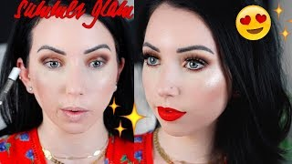 FULL FACE GLAM SUMMER MAKEUP LOOK! Fair Skin Makeup Tutorial