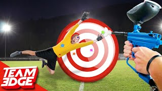 Paintball Goalie! | Block the Paintball!!