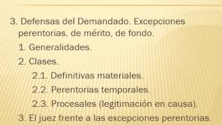 22.  Excepciones de mérito, de fondo o perentorias (todo ello es sinónimo)