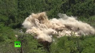 RAW:  North Korea destroys Punggye-ri nuclear test site