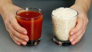 Рис на ужин ПО-НОВОМУ! Нужна лишь сковорода и минимум продуктов! Вкуснейший рис с томатной пастой