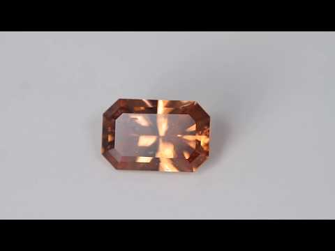 Imperial Zircon 3.09 Carat Emerald Cut