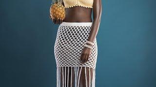CROCHET SKIRT | Crochet Festival /beach Skirt Tutorial | Macrame Skirt