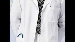 PulseUniform - CH-1388 Cherokee Mens White Long Lab Coat