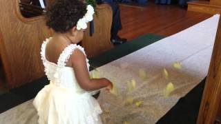 Flower Girl - This is how it is done when you are TWO!