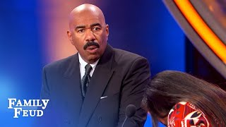 Fill in the BLANK.... You CHEAT on me... I BLANK you! | Family Feud