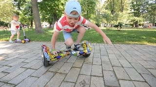 VLOG Катаемся на ГИРОСКУТЕРЕ в парке Шевченка / Riding HOVERBOARD at Shevchenko park