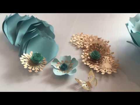 Como Hacer Moldes Para Flores De Papel Yuliana Parte 2 Flores Con