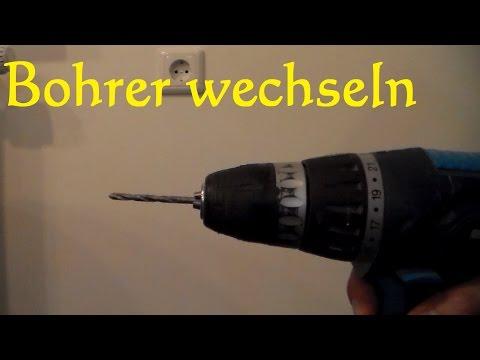 Bohrer wechseln einspannen - Bohrer bei Akku Bohrmaschine tauschen Wechseln des Bohrfutters